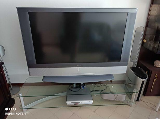 TV Sony Wega KF50sx300 LCD Projector TV com mesa de apoio
