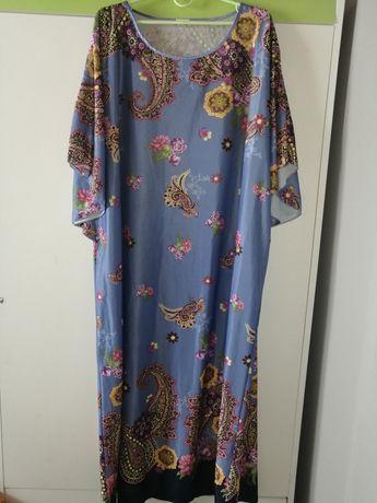 Długa sukienka boho, Orient, rozmiar XXL