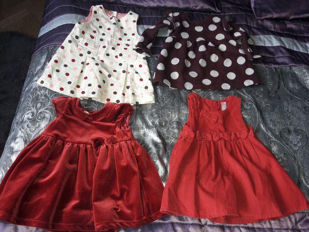 Sukienka (i) rozmiar 74 Zara H&M Next early days