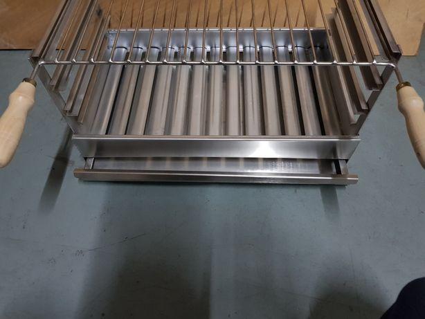 Grelhador / churrasqueira pousar inox 50 cm