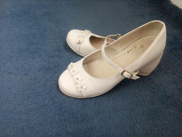 Buty skórzane dziewczęce