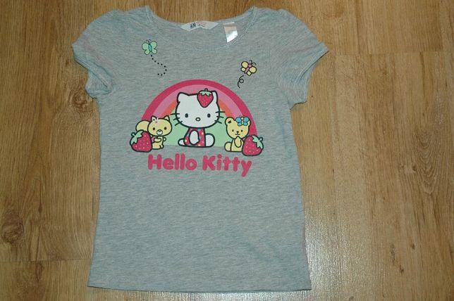 H&M Hello Kitty bluzeczka T-shirt r.122-128