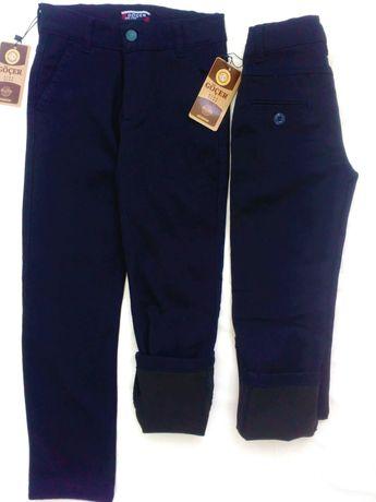Утепленные брюки на флисе для мальчика Турция Темно синие 5-12 лет