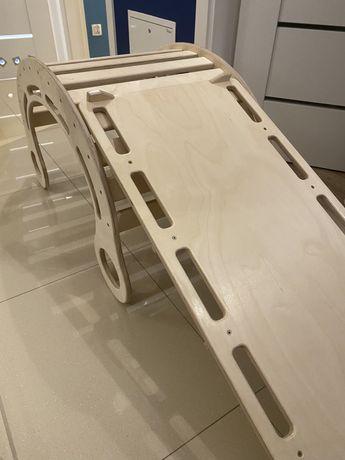 Bujak +zjeżdżalnia drewniana