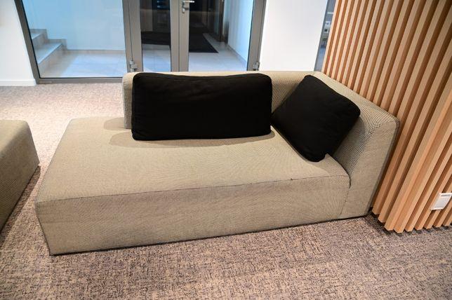 Sofa kostka narożna z oparciem po lewej stronie 1 szt