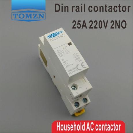 Модульный контактор 25 А 2х-контактный 220 Вольт на Din-рейку. Sonoff