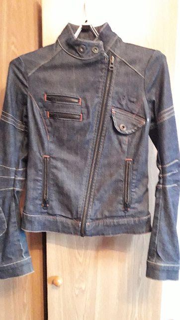 Стильная джинсовая женская куртка -косуха, Ltb