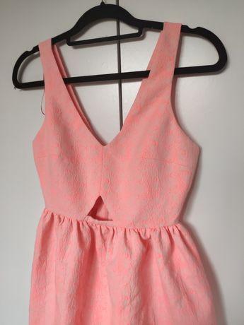 Sukienka Zara neon Różowa neonowa Nowa