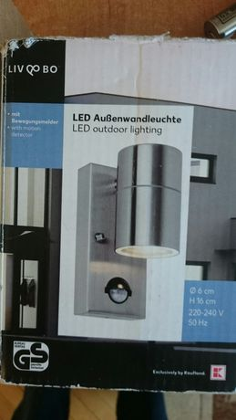 Lampa ścienna LED.