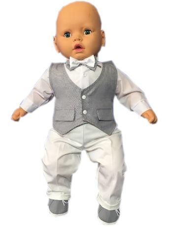Ubranko do chrztu dla chłopca 80 komplet garnitur