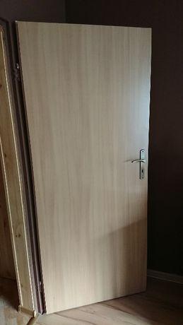 3 x Drzwi z demontażu - używane, kolor OLCHA