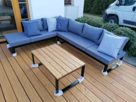 Meble ogrodowe -zestaw narożnik 250x200x65+ stolik 120x80x45