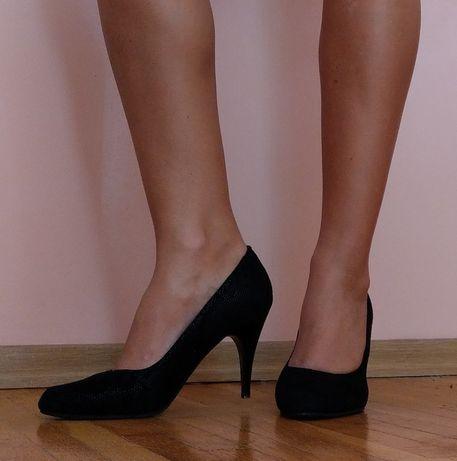 Классические туфли из натурального замша (25см)
