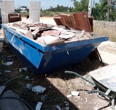 Aluguer de contentores para entulho de obras e resíduos urbanos