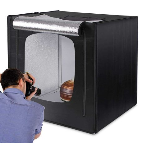 Box para fotografia produto 80x80x80cm iluminação caixa foto vinil