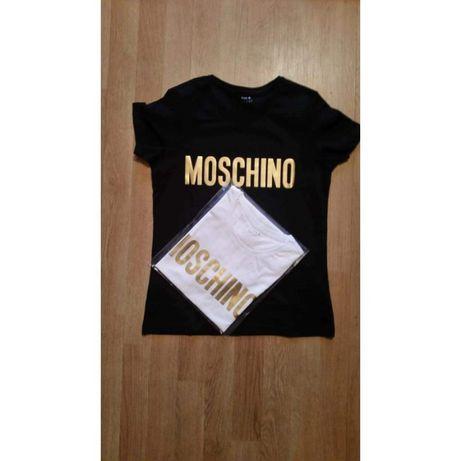 Gold Moschino T-Shirt damski