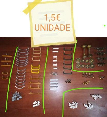 Puxadores de Móveis - Vários Metal / PVC / Madeira / Porcelana