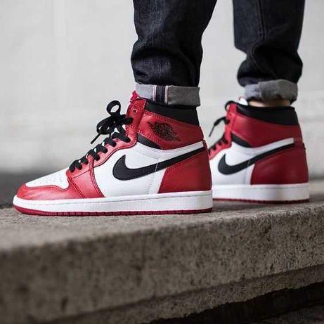 "Кроссовки Nike Air Jordan Retro 1 High OG ""Bulls"""