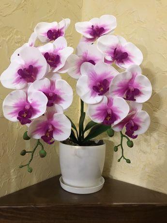 Шикарная орхидея латекс силикон декоративная искусственная