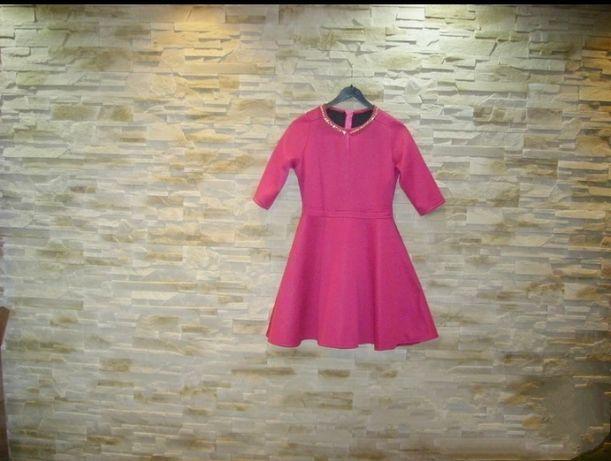 Sukienka piankowa różowa nowa