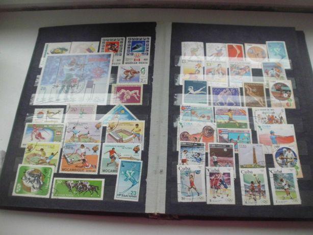 Zamienię znaczki ,tematyka sport na znaczkach 490 szt