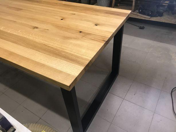 Stol dębowy nowoczesny piękny masywny drewniany