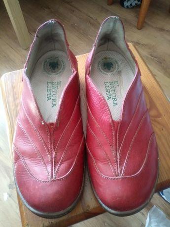 Buty półbuty damskie czerwone El Naturalista r. 39