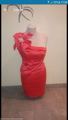 Sukienka M malinowa