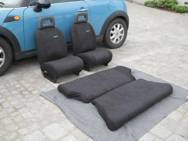 Fiat 126p tapicerka foteli czarny welur komplet przód tył