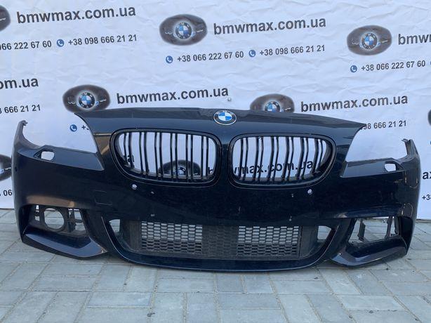 Бампер BMW 5 F10 M рест, темно-синій