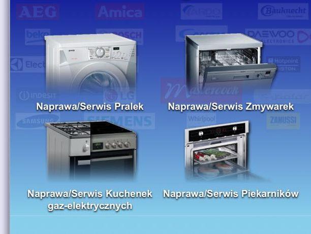 Naprawa: PRALEK, ZMYWAREK, KUCHENEK gazowo-elektrycznych Szczecin