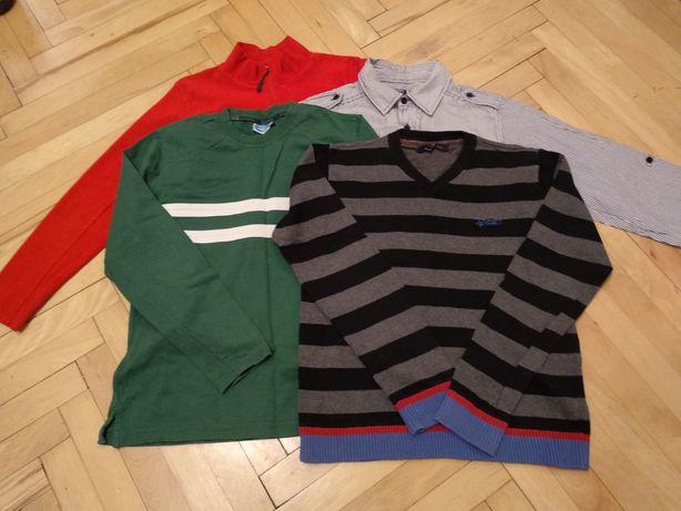 Rozmiar 152 ubrania zestaw paka dla chłopca koszula polar bluza sweter