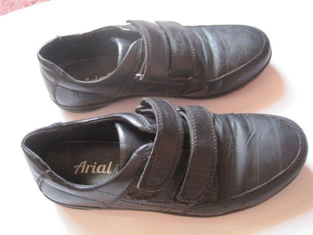 Туфли на липучках кожаные на мальчика р.35