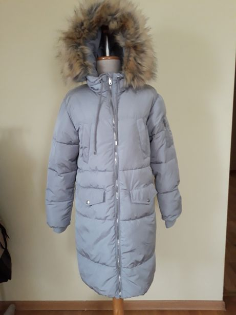 Płaszcz pikowany S nowy Bershka długa ciepła kurtka