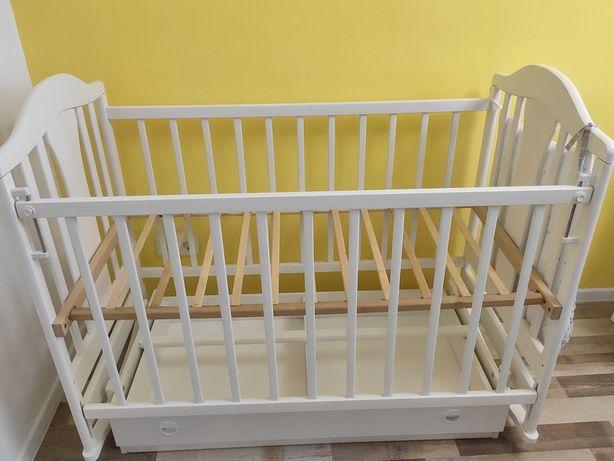 Кроватка Наполеон матрас постельное белье белая
