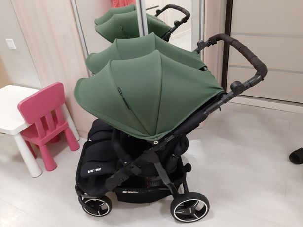 Продам коляску для двойни Baby Monsters Easy twin 2 в1