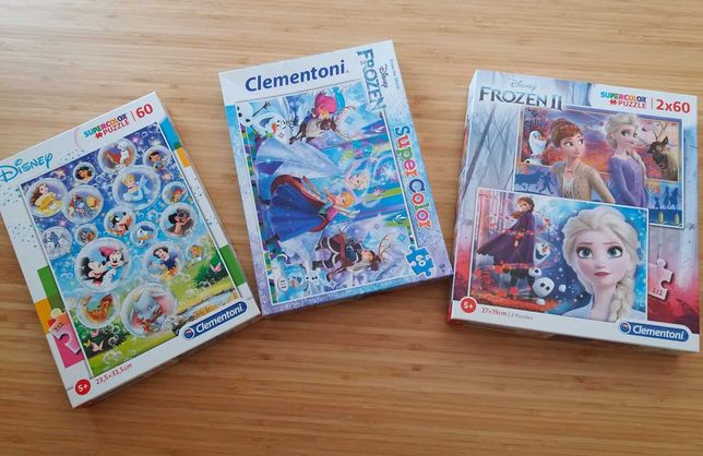 Conjunto de Puzzles 60 Peças 5+ DISNEY / FROZEN - Clementoni - c/Novos