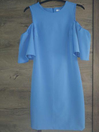Sukienka Reserved błękitna elegancka XS S