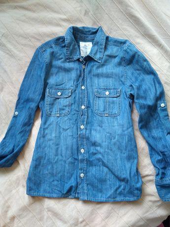 Koszula dżinsowa dżins H&M niebieska jeans