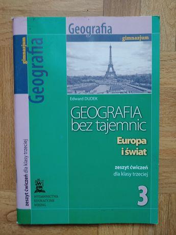 Geografia bez tajemnic , zeszyt ćwiczeń do klasy 3