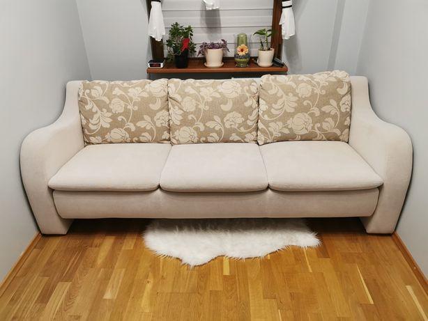 Piękna kanapa rozkładana, 3 poziomy regulacji oparcia, bardzo wygodna