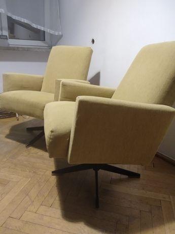 Fotele obrotowe PRL - cena za komplet