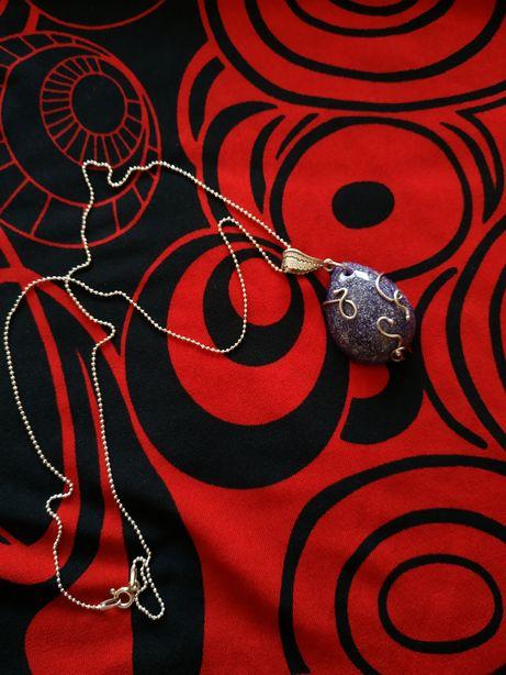 Idealny prezent - Wisiorek z żywicy epoksydowej, wire wrapping