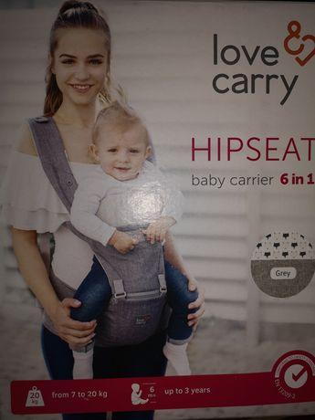 Новая Переноска Hipseat baby carrier 6 in 1 grey