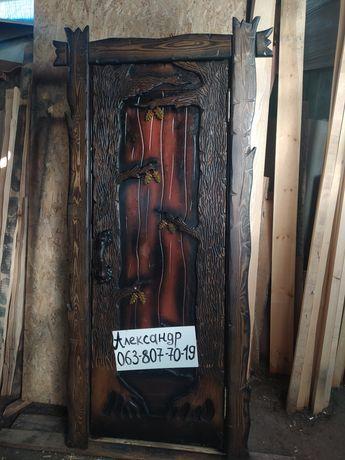 Деревянные двери под старину! ( для дома, бани, дачи )