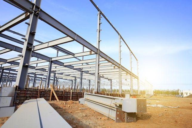 Konstrukcje stalowe, kratownice dachowe, dźwigary, spawanie, hala,