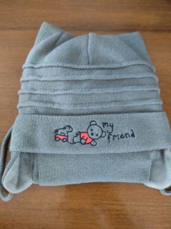 Теплый комплект шапка и шарф для самых маленьких