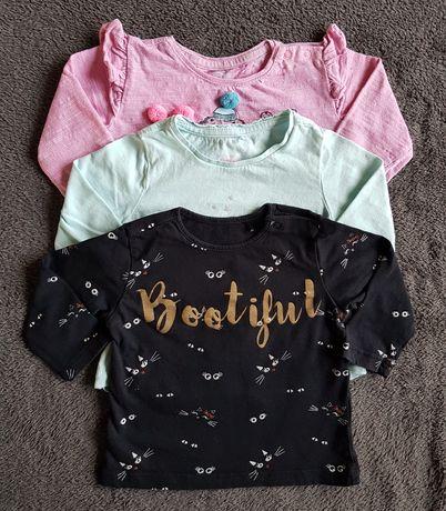 Zestaw 3 bluzeczek dla dziewczynki Cool Club roz. 68