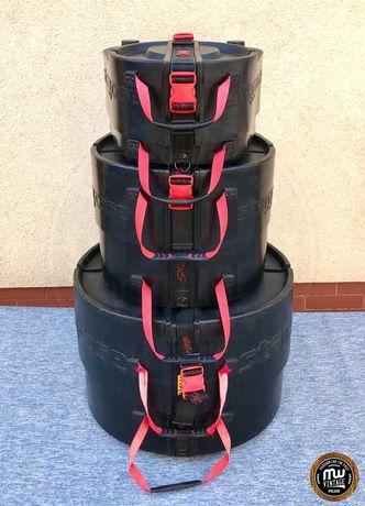 """Stagg - zestaw case'ów Advanced Concept Drum Cases 22"""", 12"""", 16"""""""