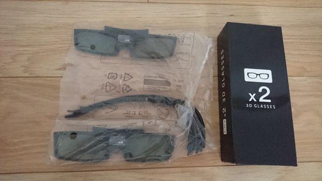 Okulary 3D SAMSUNG 2 sztuki!